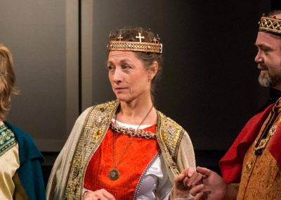 Students at Skagit Valley College perform Shakespeare at McIntyre Hall.