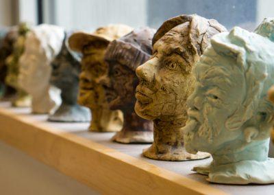 Small Ceramic Heads — Ceramics 101 — Art Program at Skagit Valley College, 2017