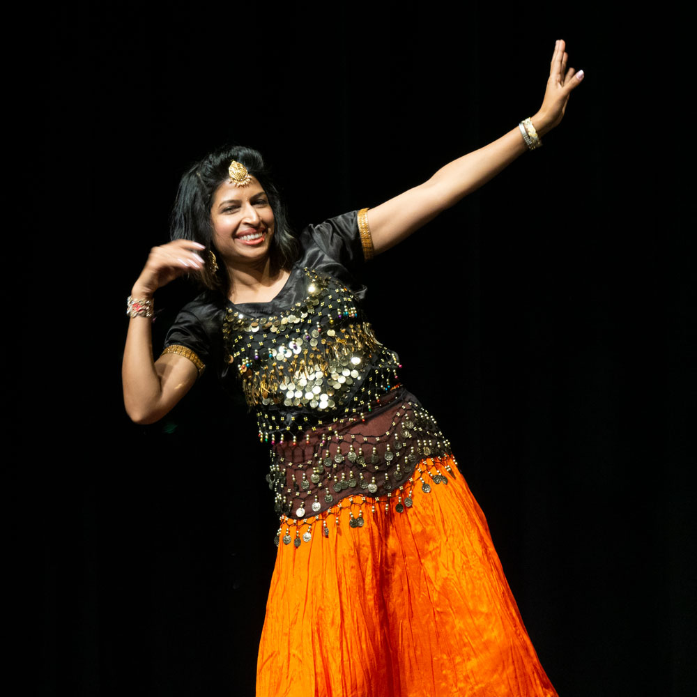 Dancer with Orange Skirt