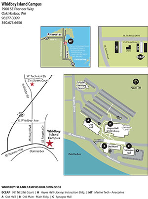 Whidbey Island Campus Map at Skagit Valley College, 2019