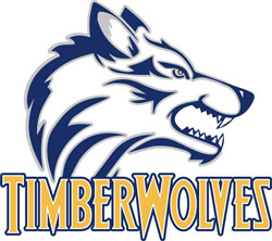 Logo for the Blue Mountain Community College Timberwolves