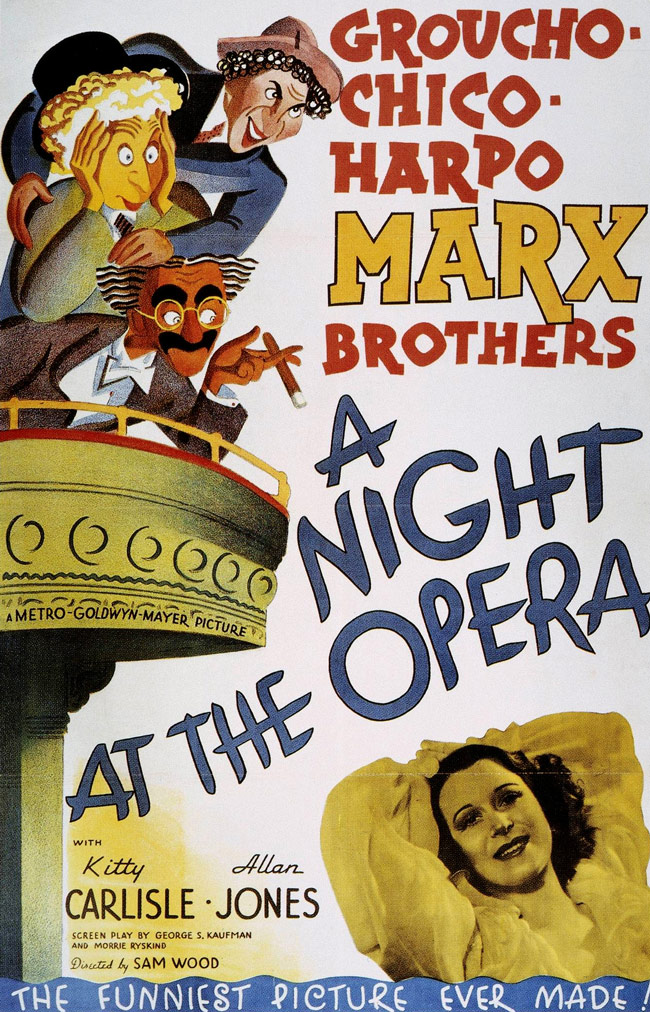 The Marx Brothers A Night at The Opera movie poster from 1935