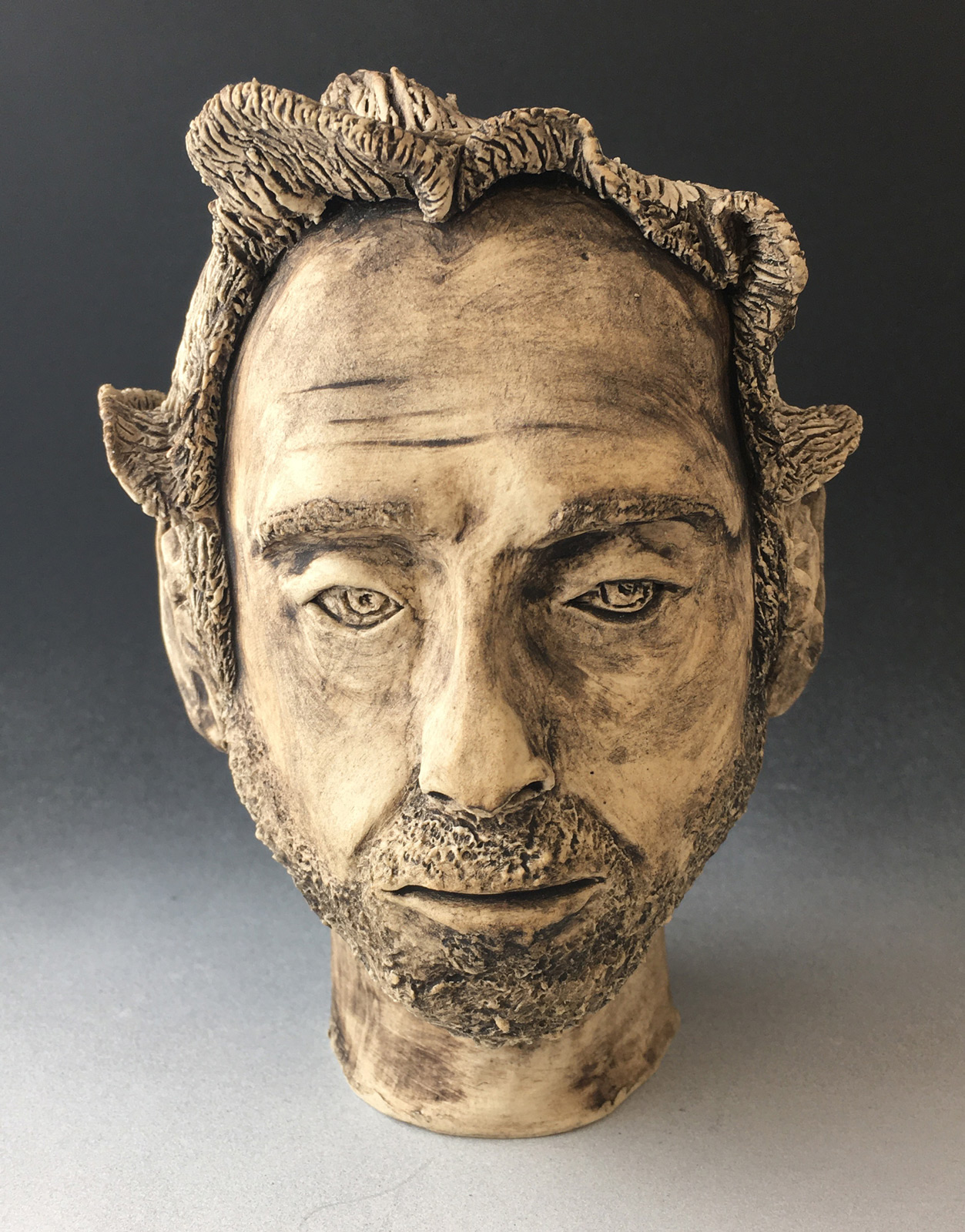 Ceramic head by SVC ceramics student