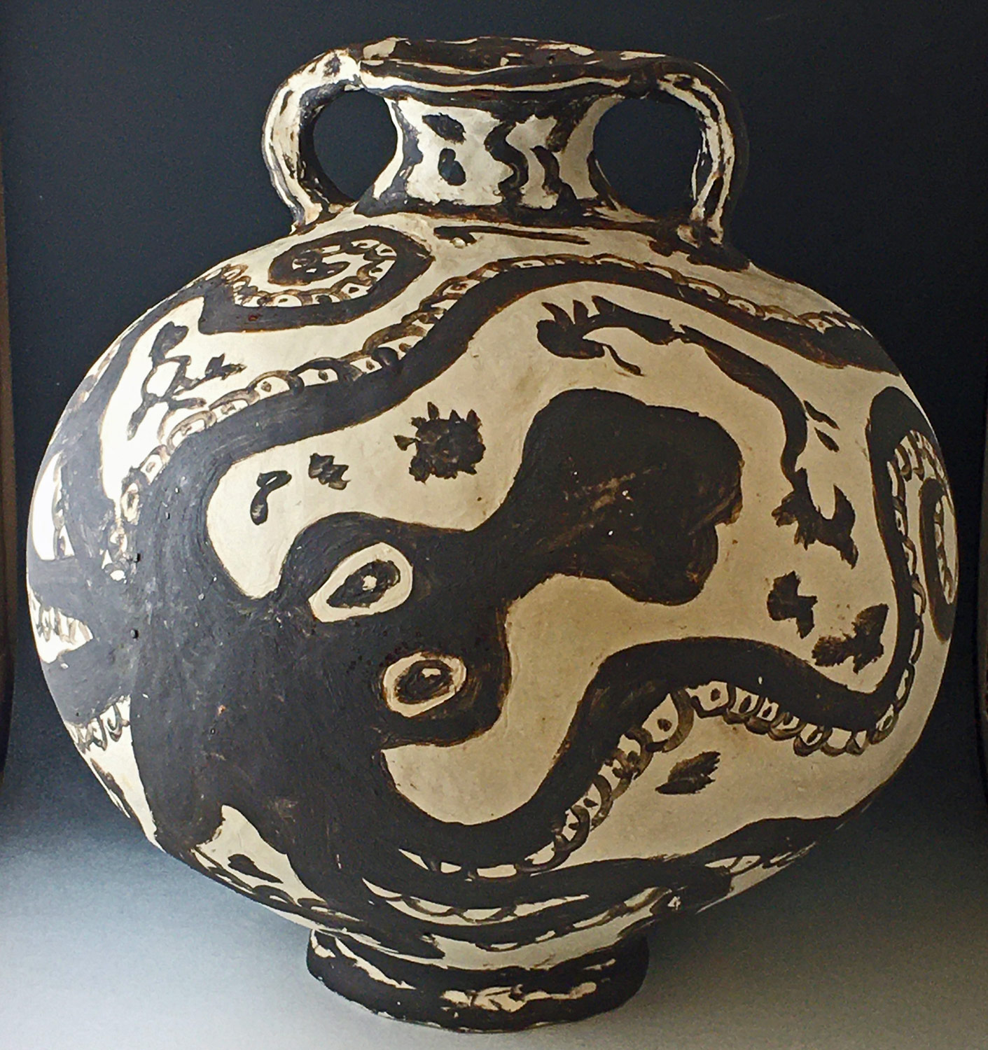 Ceramic vase titled, Octopus Vessel by an SVC art student