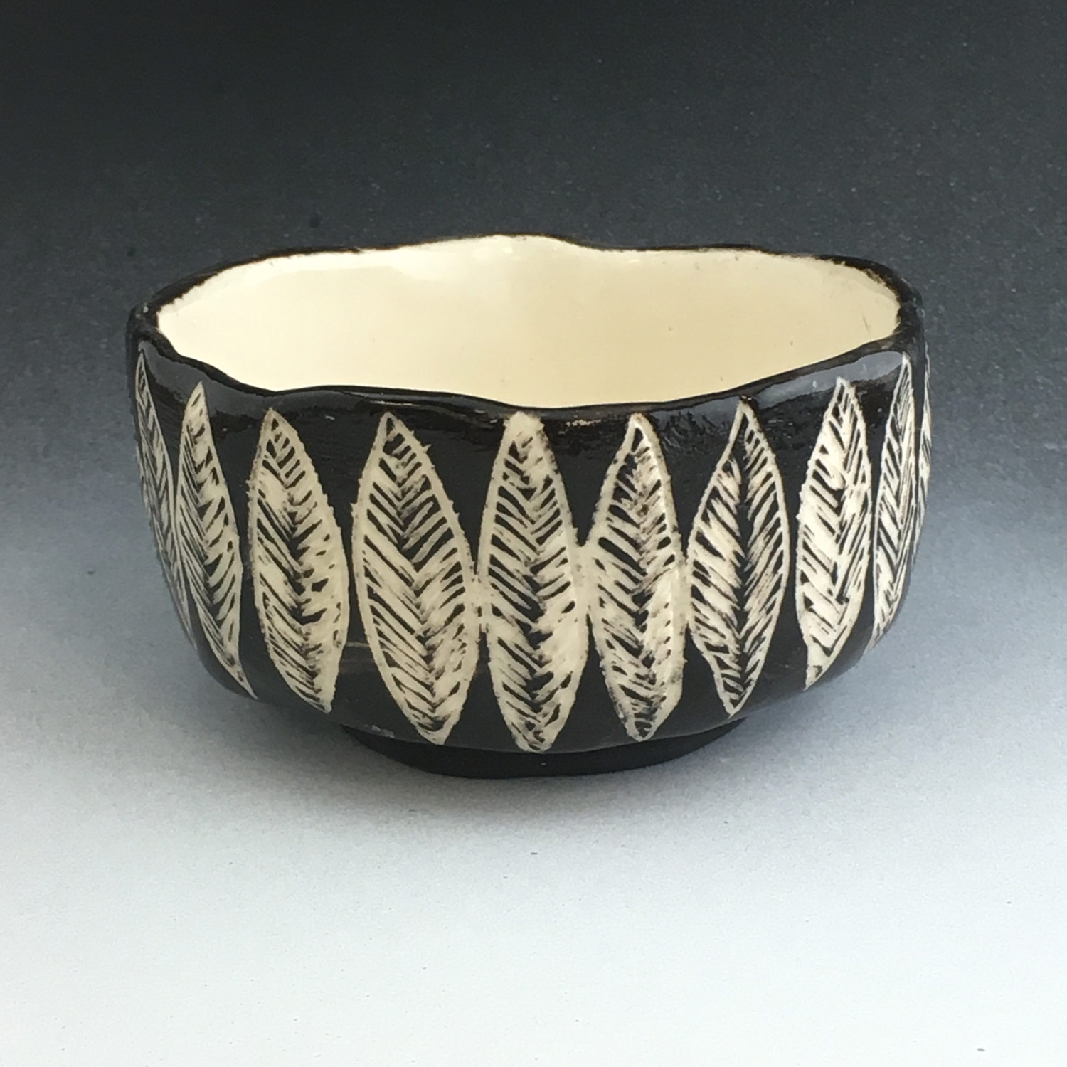 Sgraffito Chawan made by a SVC ceramic student
