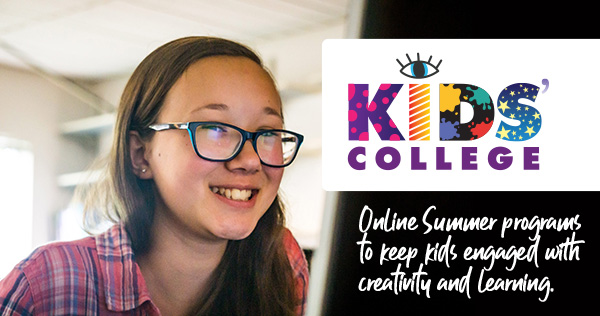 Kids' College at Skagit Valley College. Online Summer programs to keep kids engaged with creativity and learning.