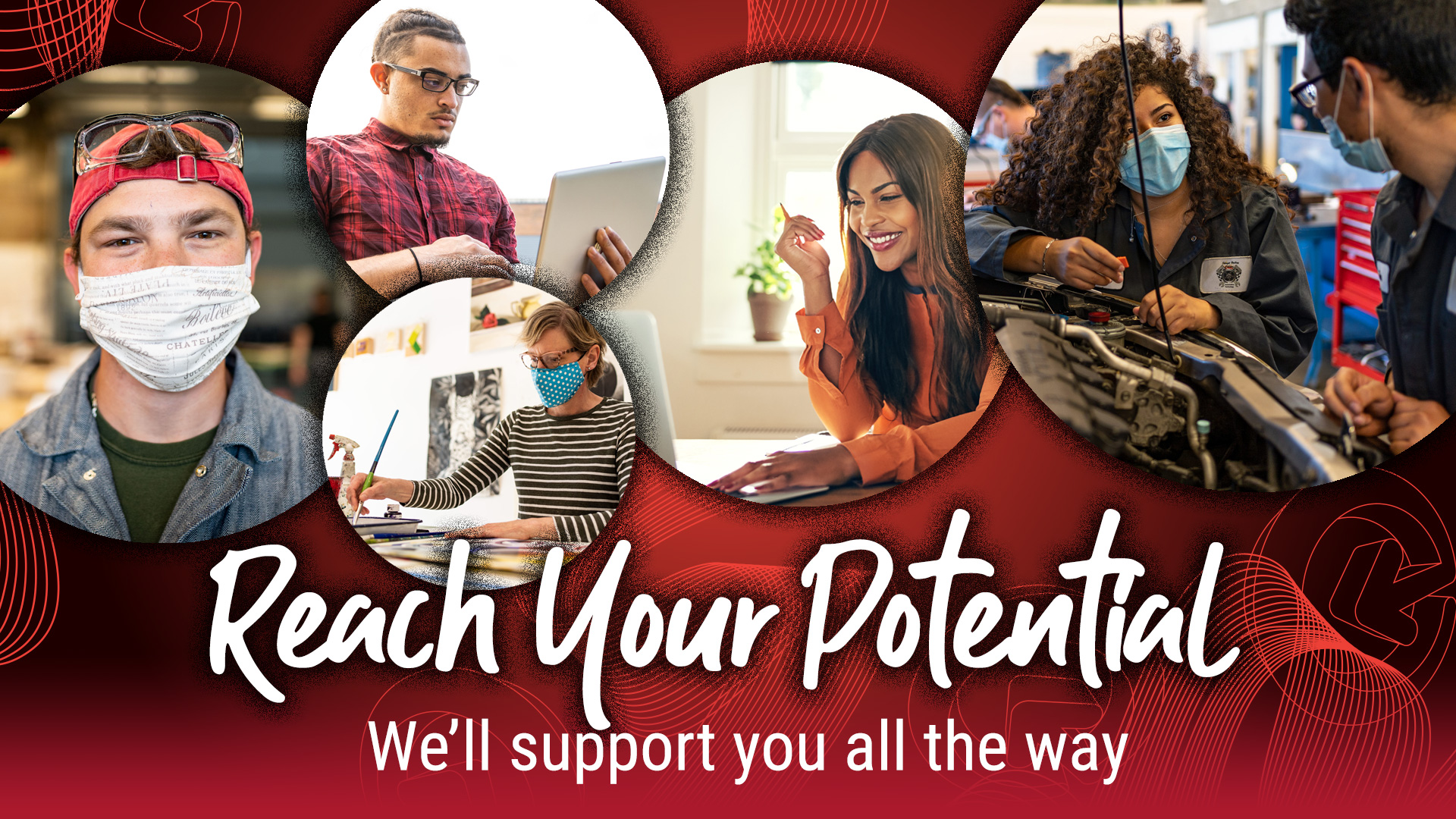 Reach Your Potential at Skagit Valley College! We'll support you all the way. Visit our Winter Quarter Information page to learn more.