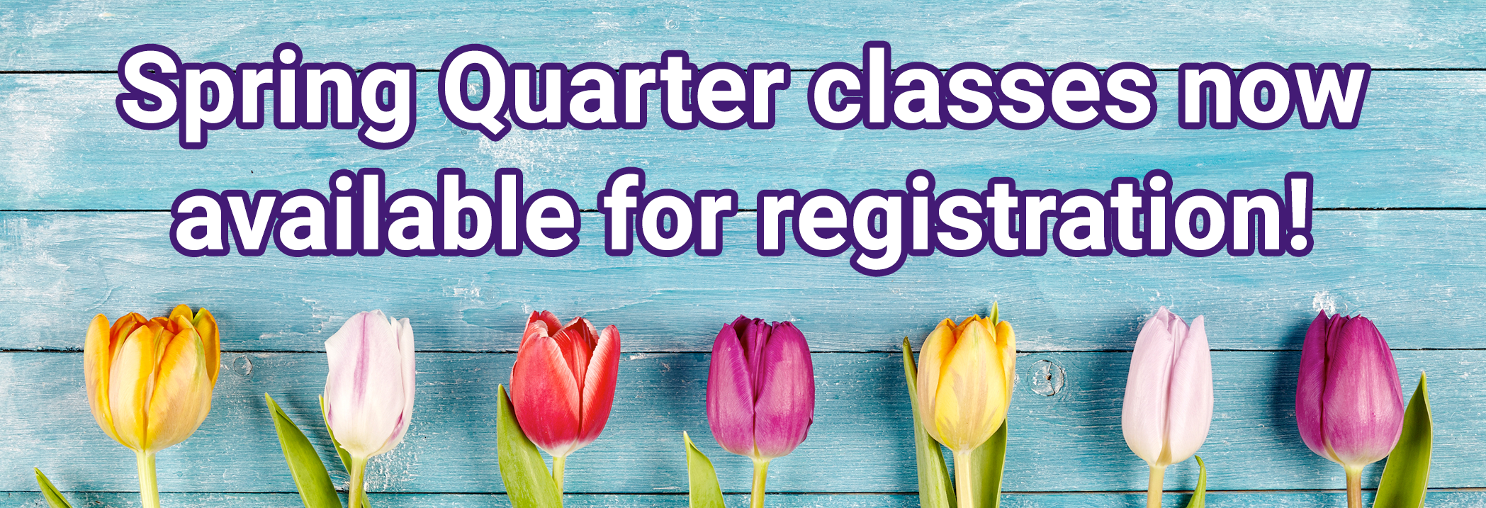 Spring Quarter classes now available for registration. View Continuing and Community education online catalog.